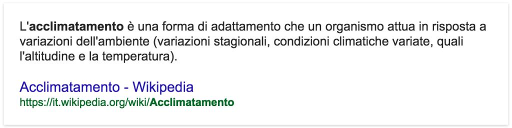 Acclimatamento wikipedia
